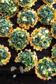 Easy Spanakopita Bites for your next party. A new twist on a traditional Greek dish. @cooktoria