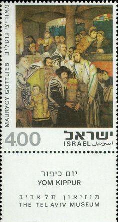 Maurycy Gottlieb Jews Praying in the Synagogue on Yom Kippur Giclee Canvas Print