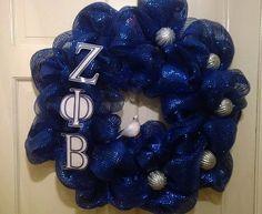 Zeta Phi Beta Deco Mesh Wreath by MKGiftedCreations on Etsy, $45.00