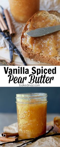 Vanilla Spiced Pear Butter - How to Can Pear Butter. This recipe is easy and has. CLICK Image for full details Vanilla Spiced Pear Butter - How to Can Pear Butter. This recipe is easy and has so much flavor & spice. Flavored Butter, Homemade Butter, Butter Recipe, Canned Butter, Butter Pasta, Butter Icing, Cookie Butter, Butter Shrimp, Zucchini Ravioli