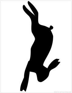 Hare Silhouette - A printable silhouette from Fun with Applique Cushions, Wool Applique, Applique Quilts, Embroidery Applique, Machine Embroidery, Animal Templates, Applique Templates, Applique Patterns, Rabbit Silhouette