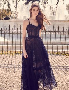 corset dress Black Wedding Dresses With Edgy Elegance black wedding dresses a line with spaghetti straps lace sweetheart costarellos Dresses Uk, Evening Dresses, Prom Dresses, Formal Dresses, Bridesmaid Gowns, Lace Corset, Black Corset Dress, Black Tulle Dress, Black Lace Gown