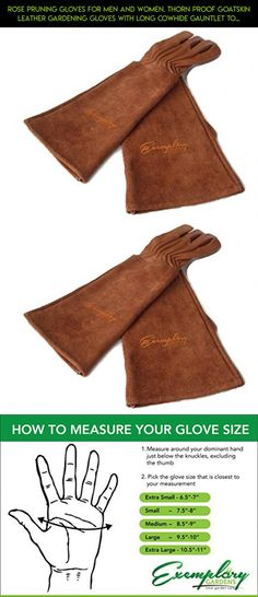 Rose Pruning Gloves for Men and Women. Thorn Proof Goatskin Leather Gardening Gloves with Long Cowhide Gauntlet to Protect Your Arms Until the Elbow (Large, Brown) #tech #drone #parts #fpv #gadgets #shopping #plans #racing #men #gloves #products #technology #camera #gardening #kit