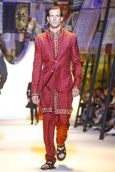 Versace Menswear Spring Summer 2016 Milan - NOWFASHION