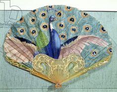 Thomasse, Adolphe (1850-1930), Peacock fan, circa 1905 (horn & silk)