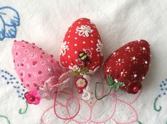 Strawberry Emery Pincushions