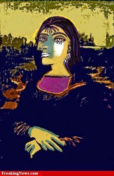 La Gioconda or Mona Lisa in versió by Pablo Picasso Mona Friends, La Madone, Mona Lisa Parody, Mona Lisa Smile, Picasso Paintings, Georges Braque, Italian Artist, Oeuvre D'art, Art History