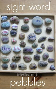 Sight Word Pebbles for Literacy Play from @imaginationtree