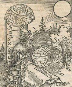 Gravure du XVIe siècle  présentant Masha'allah dont le nom fut associé à un Traité de l'astrolabe fameux .
