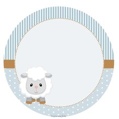 Baby Lamb in Light Blue: Free Printable Wrappers and Toppers. Imprimibles Baby Shower, Scrapbook Bebe, Sheep Cards, Eid Crafts, Baby Dedication, Baby Lamb, Ramadan Decorations, Baby Shower Cards, Baby Boy Rooms
