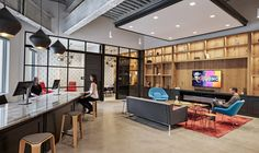Tre barstools from Davis Furniture in the Sonos Boston offices - designed by IA Interior Architects