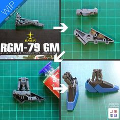 : : GBWC 2016 ZETA PLUS C1 : :  Here's the work on the feet! The original MG Zeta Plus C1 had simpler joints for the ankle using just one post. I wanted to add more details, so I chopped up an MG GM kit for it's ankle pistons!  I also used a spare Sinanju MG Inner frame part for a stabilising inner part. It worked so well!  See ya! Josh  #gundam #gunpla  #gunplabuildersaustralia  #bandai