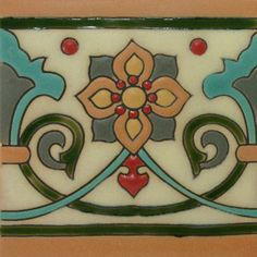 Prima (Raised Relief) Mexican Tile - Flor de Liz