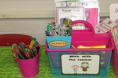 """""""Daily 5"""" ideas...Cute tools much cooler than finger tracking--wikki sticks, highlighting trackers, witch fingers, claws, mini-fairy wands, goggly eye pointers and drink stirrers."""