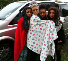 Little Mix stranded on side of motorway when a wheel falls off their car!