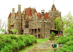 Boldt Castle in New York.  So many of the U.S. castles were started by husbands for their wives but were unfinished/wife never lived there.