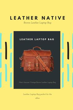 Our Men's Genuine Vintage Brown Leather Laptop Bag is made from genuine, strong, lightweight, durable goat leather, tanned without the use of chemicals. Brown Leather Laptop Bag, Small Leather Bag, Vintage Messenger Bag, Laptop Shoulder Bag, Leather Bags Handmade, 5 D, Goat, Strong, Goats