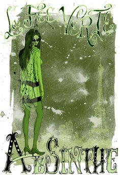 Very dark absinthe fairy... (by David Procter)