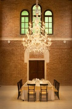 The private dining room within the restored church at JW Marriott Venice Resort and Spa, Isola Delle Rose, Venice, Italy. Photo by: Lydia Evans