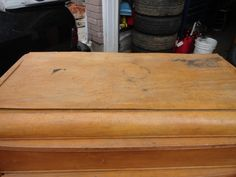 Left out in the rain this 3 drawer dresser is going to be going through a transformation