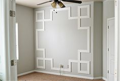 DIY Greek Key Molding Tutorial I think this would look pretty cool smaller and repeated like wainscoting with a plain chair rail on top.