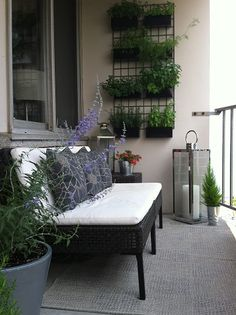 To accomplish beauty tiny balcony, you dependence to find right furniture for it, especially for small terrace, space-saving and dedicate dimension is more important. Narrow Balcony, Small Balcony Design, Small Balcony Garden, Small Terrace, Outdoor Balcony, Terrace Design, Balcony Railing, Small Patio, Outdoor Gardens