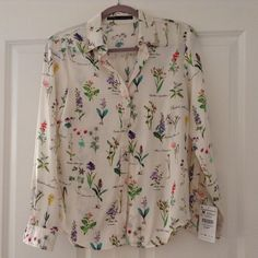 Zara botanical shirt Zara botanical shirt. New used. Zara Tops Button Down Shirts