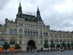 GUM department store-- Moscow, Russia. Omg imagine all the shopping you could do there