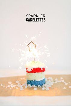 [Independence Day] Sparkler Cakettes
