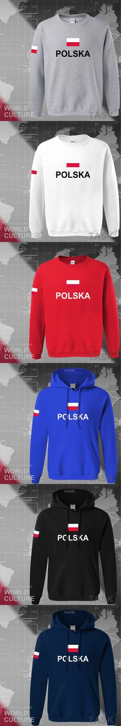 Poland hoodies men sweatshirt polo sweat new hip hop streetwear footballes jerseys tracksuit nation Polish flag PL Polska Pole