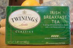 Irish Breakfast tea - with a little soy milk and honey = amazing!