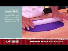 How to Roll Out Fondant - Fondant Basics Part 2 - Cake Boss Baking - YouTube