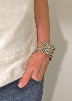Sterling Silver Wide Cuff Bracelet Bee by TafSchaeferDesign, $300.00