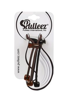 Pulleez Sliding Ponytail Holders Double Pack Acrylic Charms (Brown and Black) ** More info could be found at the image url.