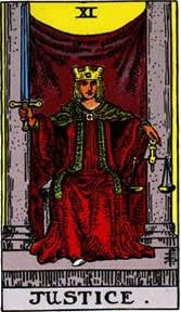 Justice Tarot Card Upright and Reversed Meaning www.thetarotguide.com #Tarot #Tarotcards #Tarotcardmeanings #Tarotspreads #Tarotreading #Tarotreaders #Learnhowtoreadtarot #Justice