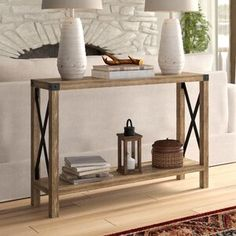 Shop a great selection of Arsenault Urban 46 Console Table Foundry Select. Find new offer and Similar products for Arsenault Urban 46 Console Table Foundry Select. End Table Sets, End Tables With Storage, Coffee Table With Storage, Lift Top Coffee Table, Coffee Tables, Photos Encadrées, Style Rustique, Sofa Tables, Console Tables