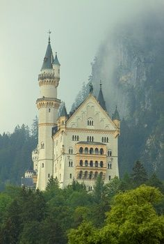 Schloss castle Neuschwanstein near Munich, Germany. This castle was the inspiration for the castles built on Disneyland & Disney World - by Paul Vo