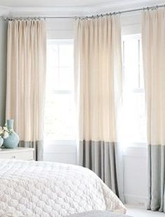 ikea two tone curtains - Google Search