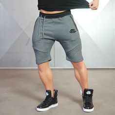 b0d1e6f2b1ffc 2017 Brand Cotton Shorts Men Summer Style Moletom Masculino Breathable  Shorts Homme Gyms Cothing Dark gray black camouflage-in Shorts from Men s  Clothing ...