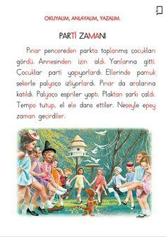 1. Sınıf Okuma Yazma Etkinlikleri 4. Grup Sesler P Sesi Okuma Anlama Metni Turkish Lessons, Learn Turkish Language, Classroom Activities, Education, Math, Learning, School, Teacher, Books