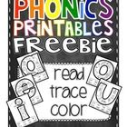 "Phonics Printables- Read, Trace & Color Short Vowels FREEBIE Vowels also evoked by skateboard movement in ""OK Reading"" book. Helen Keller had healthy brain (if not eyes and ears). Color Phonics give clues there also. Phonics Reading, Teaching Phonics, Phonics Activities, Kindergarten Literacy, Teaching Reading, Short Vowel Activities, Learning, Literacy Games, Reading Games"