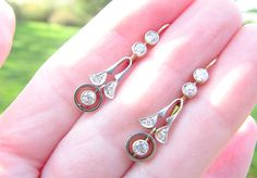 Charming Antique Diamond Earrings Art Nouveau to Art by Franziska