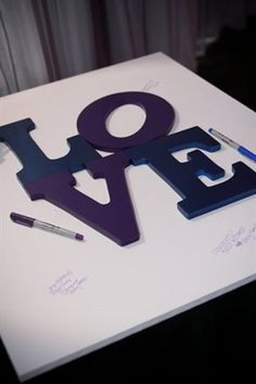 guestbook idea- Love this and hang up after the wedding.
