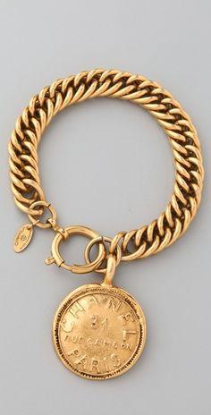 Vintage Chanel Paris Charm Bracelet