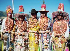 Traditional adornment.  Tibet.