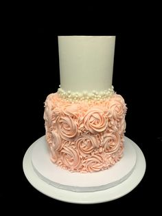 Pretty in pink wedding cake Food Network Recipes, Pretty In Pink, A Food, Cupcake Cakes, Rio, Wedding Cakes, Bridal Shower, Bakery, Wedding Gown Cakes