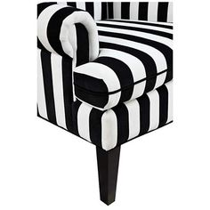 Paris Black and White Velvet Wingback Occasional Chair - #8J062 | www.lampsplus.com
