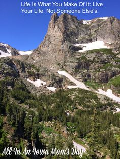 Live your Life, Not Someone Else's. The trail from Bear Lake to Odessa Lake in Rocky Mountain National Park.
