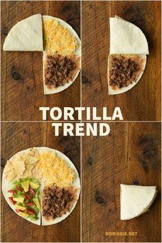 Tortilla Wraps, Easy Tortilla Recipe, Quick Dinner Recipes, Wrap Recipes, Lunch Recipes, Crunch Wrap, Wrap Sandwiches, Healthy Snacks, Food And Drink