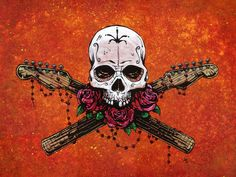 Day of the Dead Artist David Lozeau, Music Saves Your Soul, David Lozeau Dia de los Muertos Art - 1